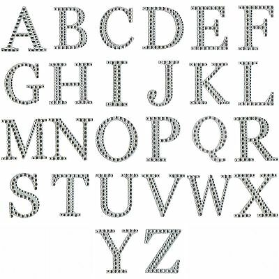 £1.49 • Buy Self Adhesive Diamante Letters 5cm Large Stick On Stickers Craft Embellishments