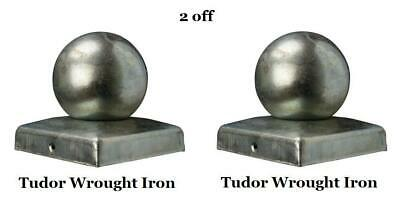 New Fence Post Ball Tops Caps Wrought Iron Gates Railings Metal Weldable 4  Inch • 25.99£