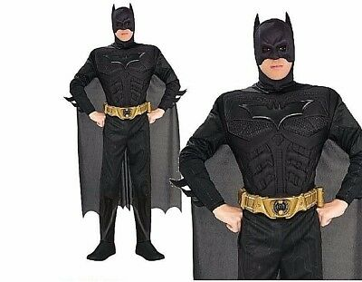 Adult BATMAN DELUXE DARK KNIGHT Muscle Chest Outfit TV Fancy Dress Costume Mens  • 34.90£