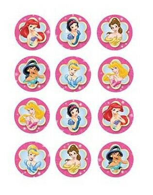£3 • Buy 30 X Disney Princess Cupcake Toppers Edible Wafer Paper CUT OUT