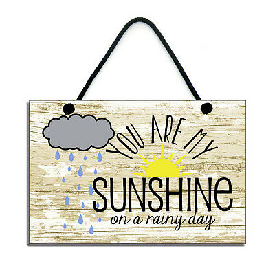 You Are My Sunshine On A Rainy Day Romantic Gift Handmade Home Sign/Plaque 653 • 6.99£