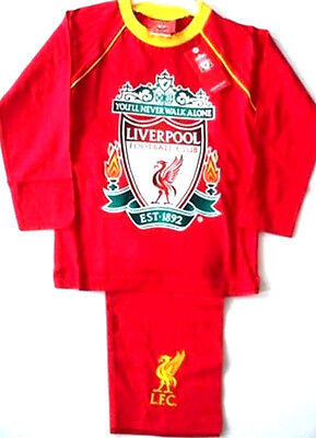 Boys Toddler Liverpool Never Walk Alone Red Long Pyjamas PJs Age 2-3 3-4 Years • 9.95£