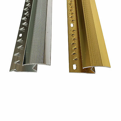 Z Edge Carpet Metal Door Bar Trim - Threshold - Brass/Silv​er Carpet To Laminate • 2.59£