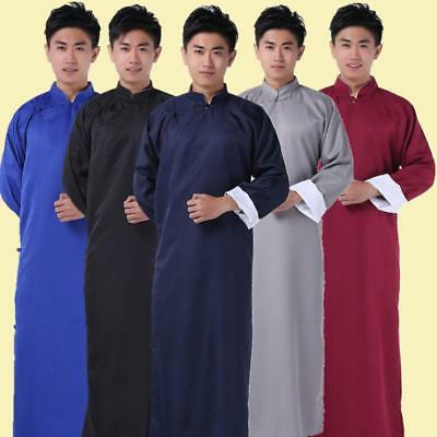 £26.65 • Buy Men Chinese Ancient Mandarin Robe Long Gown Man Costume Stage Dress Cosplay Coat