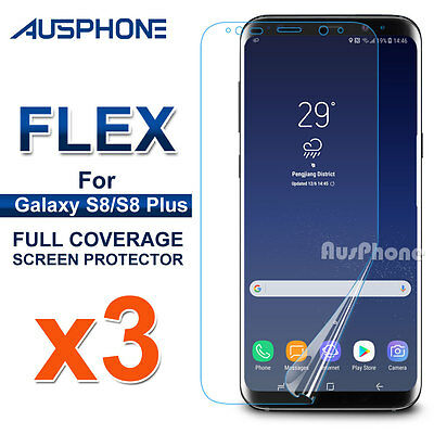AU5.95 • Buy 3x Galaxy S8 S8 Plus Flex Full Coverage Soft TPU Screen Protector For Samsung