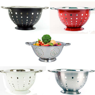 Colander Strainer Stainless Steel 28CM For Draining Pasta/Fruit/Vegetables • 7.99£