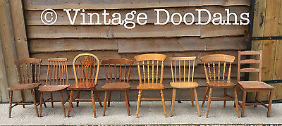 £40 • Buy Mix & Match Unpainted Kitchen Dining Farmhouse Wooden Chairs- Varied Selection