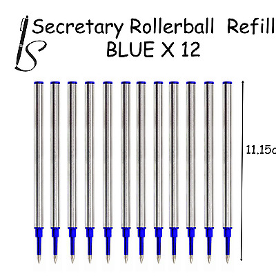 £3.98 • Buy 12x COMPATIBLE ROLLERBALL PEN REFILL INK - BLUE SAME DAY UK DISPATCH SOLD 10000