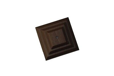 """£6.95 • Buy Linic 5 X Brown 3"""" 75mm Plastic Fence Post Cap Top Finial UK Made GT0043"""