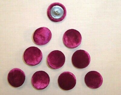 £3.85 • Buy 10 X Upholstery Buttons In HOT PINK - CRUSHED GLITZ VELVET (Size: 25mm)