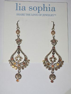 $ CDN28.86 • Buy NEW Lia Sophia CORONATION EARRINGS -LOTS OF SPARKLE -GORGEOUS (*VERY RARE & HTF)