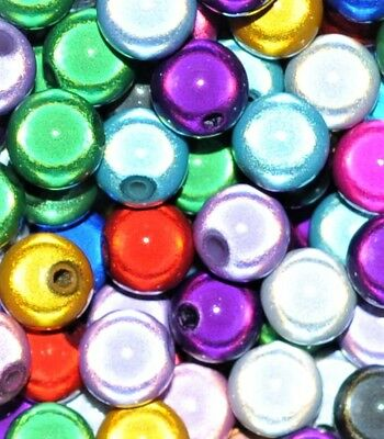 £1.99 • Buy Acrylic Miracle Beads, Round, Assorted, Options For Size 4, 6, 8, 10, 12 Mm