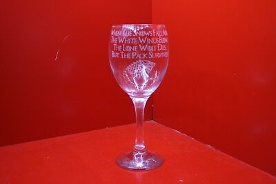 £12 • Buy Engraved Wine Glass Game Of Thrones Ed Stark Snows Fall And The White Winds Blow