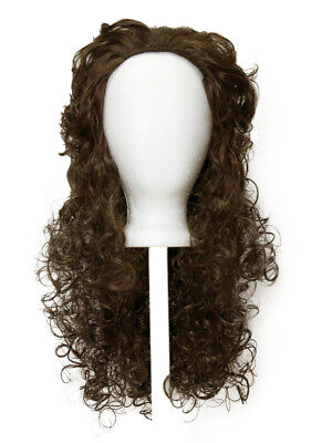 £19.43 • Buy 18'' Messy Curly Layered Cut W/ No Bangs Chocolate Brown Wig Cosplay Cavalier
