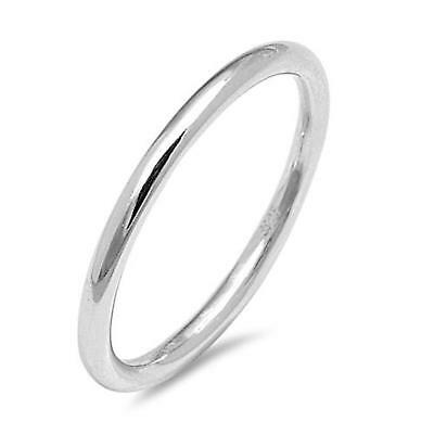 AU9.75 • Buy PLAIN ROUND BAND ~ Genuine STERLING SILVER Ring ~ Size 4 5 6 7 8 9 10 11 12 13