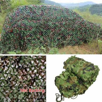 Army Camouflage Net Camo Netting Camping Shooting Hunting Hide Woodland Game Net • 11.99£