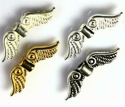 £2.39 • Buy 20 X FAIRY ANGEL WINGS CHARMS 23mm X 7mm COLOUR CHOICE TOP QUALITY
