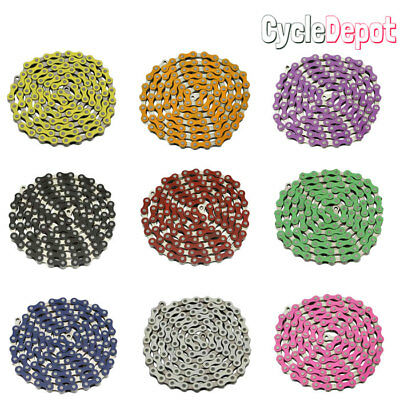 AU18.29 • Buy NEW YBN Single Speed Bicycle Chain 1/2 X1/8  112L BMX Freestyle Chain ALL COLORS