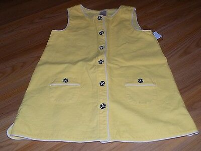 $15 • Buy Girls Size 9 Gymboree Bee Chic Yellow Tunic Button Up Top Black White Buttons