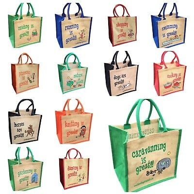 Jute Shopping Bags - HOBBIES From 'These Bags Are Great' - Good Size Bag Gift • 4.95£