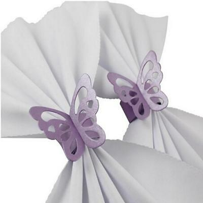 50 Butterfly Paper Napkin Rings Holder Wedding Christmas Party Table Decor 6A • 3.43£