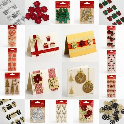 Christmas Card Making Handcrafted Embellishment Crafts -  Handmade Decorations • 1.95£