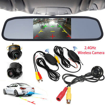 $70.49 • Buy Wireless 360° Front/Sides/Rear Parking Camera +4.3  Color Mirror Display Monitor