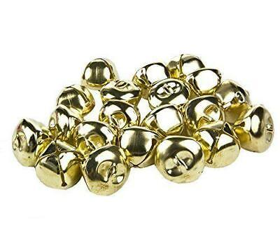 80 GOLD RINGING JINGLE BELLS CHARMS 10mm XMAS TOP QUALITY • 2.79£