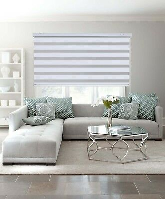 AU32.95 • Buy MODERN Zebra Double Roller Blinds Commercial Quality White