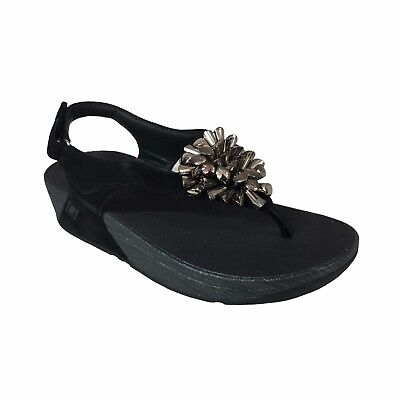 Thong Sandal Black FIT FLOP Blossom A11-001 Microwobbleboard™ Standard • 105.32£