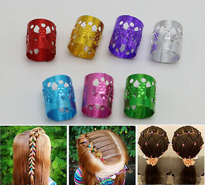 $2.29 • Buy 50 Mixed Color Hair Braid Ring Cuff Clips Dreadlock Beads For DIY Hair Extension