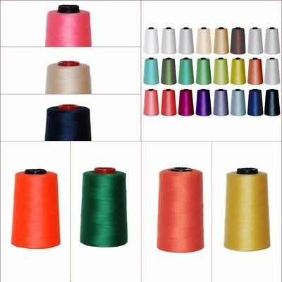 4 X 5000 YRDS TOP QUALITY SEWING THREAD 120s SPUN POLYESTER, OVERLOCKING  • 8.95£