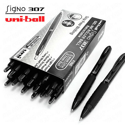 AU27.99 • Buy Uni-Ball Signo 307 - 0.7mm Gel Ink Retractable Rollerball Black - 12 + 2 Free