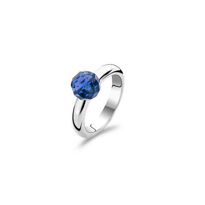 £40 • Buy NEW Genuine Ti Sento Sterling Silver Blue Faceted CZ Set Ring 1591DB Size 56 £55