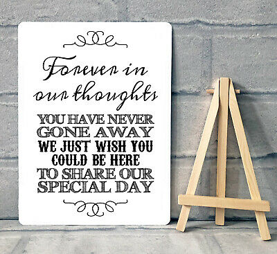 A5 Metal Wedding Memory Table Sign And Easel - BLACK  • 8.95£