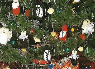 £3.30 • Buy Vintage Knitting Pattern For Christmas Tree Decorations - Easy To Knit