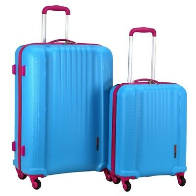 Swiss Case 4 Wheel Spinner EZ2C 2Pc Strong ABS Suitcase / Luggage Set • 63.99£