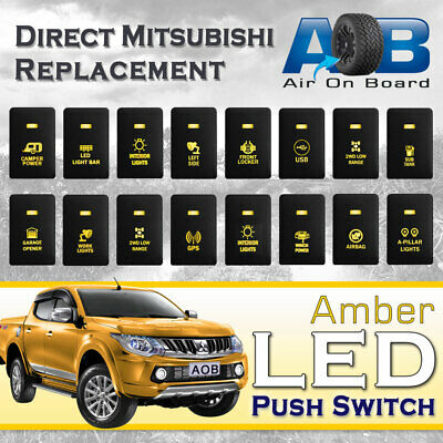 AU28 • Buy Mitsubishi Push Switch 12V Amber LED Fog Light Bar For MIRAGE LA, OUTLANDER ZK,