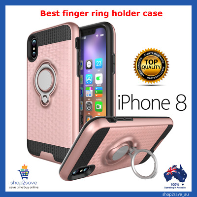 AU7.40 • Buy Iphone 8 / IPhone 7 Ring Case With Magnet Car Holder Stand Case TPU Cover