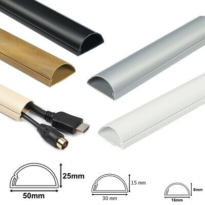 £3.79 • Buy D Line Self Adhesive Trunking Electrical Cable Conduit Wire Channel Dline PVC