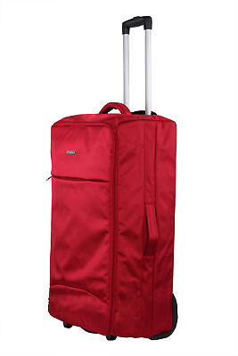 """Swiss Case 28"""" Lightweight Folding Travel Suitcase Cabin Luggage Trolley Bag • 19.99£"""