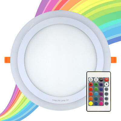 £13.29 • Buy  RGB 16 Colour Changing Ring LED Ceiling Panel Down Light Bedroom Mood Light