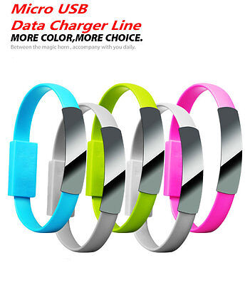 $3.25 • Buy USB Charging Data Sync Charger Cable Cord Bracelet Wrist Band FOR Cell Phone
