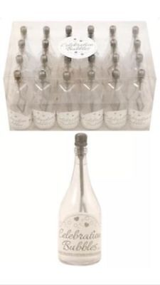 £12.98 • Buy 48x Champagne Bottle Wedding Favors Bubbles Party Table Decorations In Silver UK