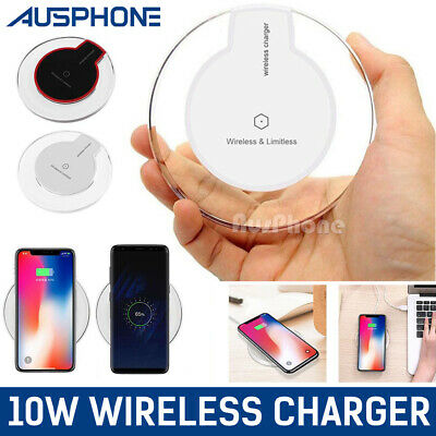 AU8.99 • Buy IPhone11 Pro Max XS XR 8 Wireless Charger Charging Pad For APPLE Samsung S10 S9