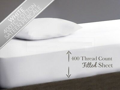 £14.99 • Buy 400 Thread Count 100% Egyptian Cotton Extra Deep Fitted Sheet 16  40cm Drop