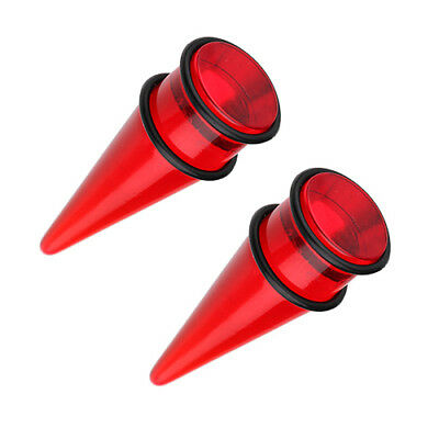 Pair Gauges Red Ear Tapers Plug O Ring Expander Stretcher 9 16 5