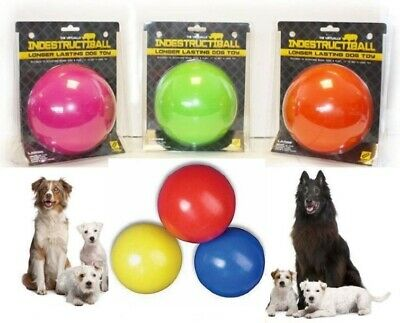 Indestructible Ball Solid Boomer Dog Ball Tough Durable Chase Toy Also Floats • 10.55£