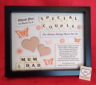 SPECIAL COUPLE Personalised PICTURE FRAME GIFT Thank You Keepsake Scrabble • 21.99£