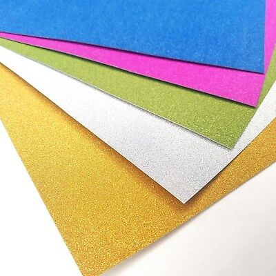 20 Sheets Of A4 Premium Glitter Card Assorted Colours Scrapbooking Crafts Paper • 3.99£